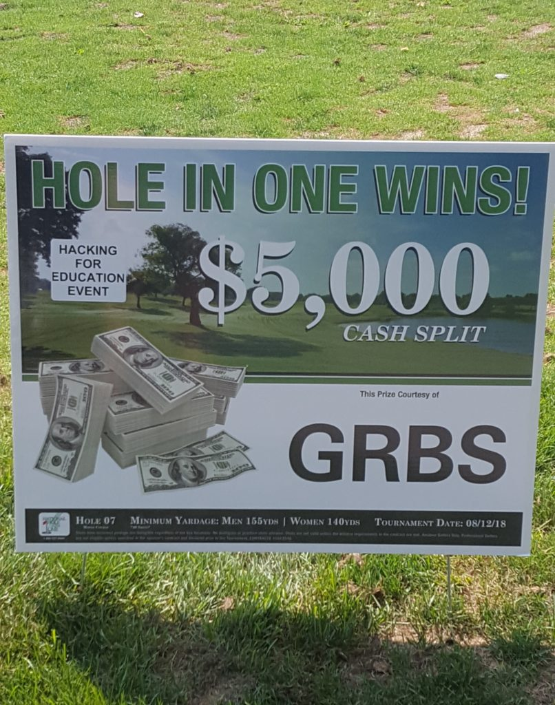 GRBS hole in one sign